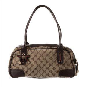 Gucci GG canvas princy Boston Bag.